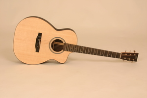 ellis OM cutaway acoustic guitar