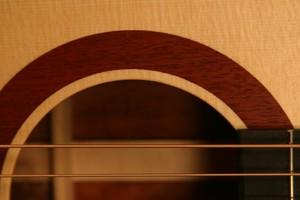 solid wood rosette acoustic guitar