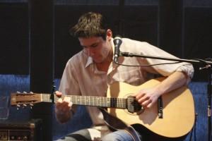 custom left handed acoustic guitar