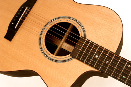 Steel String OM Cutaway Wedged Acoustic Guitar