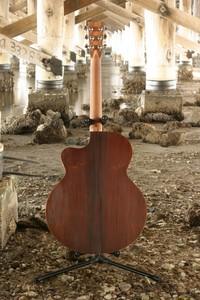 Vintage Jumbo Acoustic Guitar Cutaway Flat Top