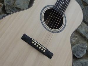 custom left handed acoustic guitar bridge