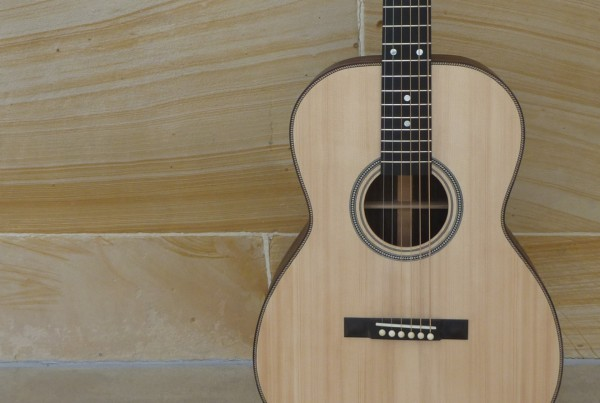 luthier made custom left hand acoustic guitar for sale