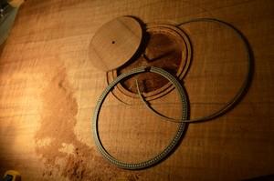 Rosette for Australian black wood guitar